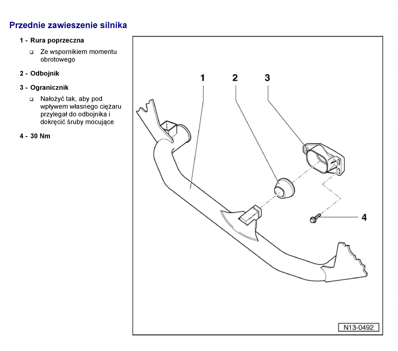 Genialny wymiana przedniej poduszki/odboju silnika przy chlodnicy - 1.8T TL22